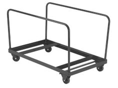 """National Public Seating DY71R Round Folding Table Dolly by National Public Seating. $133.15. Lifetime Warranty. National Public Seating DY71R Round Folding Table Dolly This folding table truck provides for vertical storage and transportation of 60""""-round plastic or laminate tables. The DY60R has 4 casters; 2 swivel and 2 fixed. 2 tubular handles provide stability and ease of handling. Constructed of powder-coated steel; Color: brown National Public Seating DY71..."""