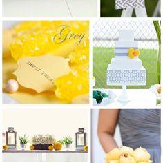 Grey & Yellow Bridal Inspiration ~ Mood Board
