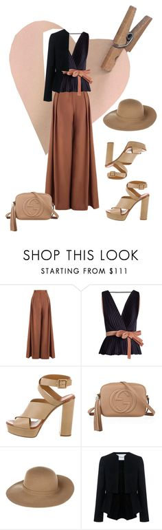 """""""Annie & Me (Dian Keaton in WoodyAllen Movie Inspired)"""" by carlotta-calsolaro ❤ liked on Polyvore featuring Zimmermann, Roksanda, Gucci, Armani Jeans and 10 Crosby Derek Lam"""