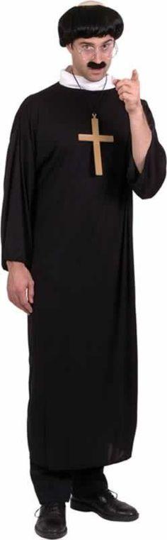 Stag Night Dog Collar Fancy Dress #US Vicar or Priest Set