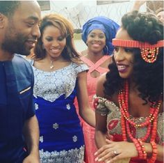 Hollywood actor, Chiwetel Ejiofor & Zain Asher of CNN storm Enugu for their sister's wedding (See Photos)