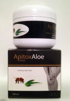 Apitox aloe relax crema anti-inflamatoria con aloe vera y apitoxina alivia dolores musculare y reumaticos tarro de 100 ml.