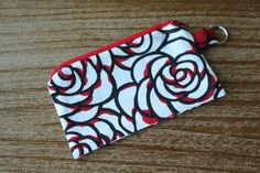 Coin PurseSmall Flat Zippered Pouch with by AmandaJeanCreations, $6.00