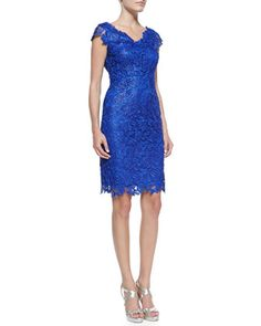 Sleeveless Venise Lace Dress  by Laundry by Shelli Segal at Neiman Marcus.