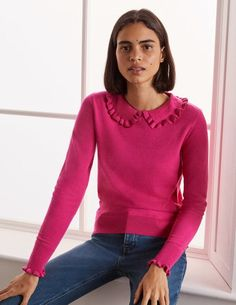 Pink Sweater, Jumper, Pullover, Sweatshirt, Gamine Style, Boden Uk, No Frills, Style Me, Sweaters For Women