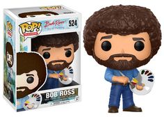 Bob Ross Pop figurine !