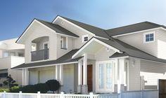 Perfect! Windspray roof, Surfmist house colour, white trim