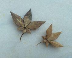 Setsuko Yamashina - Maple Leaf (Kraft 15X15 and 13X13)   Flickr - Photo Sharing!