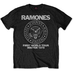 RAMONES MEN'S SPECIAL EDITION TEE: FIRST WORLD TOUR 1978#1lt2f #1lt2fskateshop #fashion #skateboarding #skateboard #longboarding #mensfashion #womensfashion #fashion #apparel #skatedecks #toys #games #dccomics #marvel #music