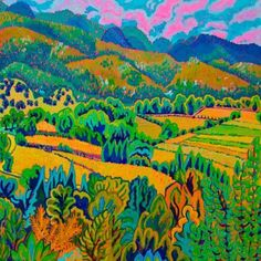 Taos Valley Farm II - Kathleen Frank - New Mexico Creates - Stunning Art Work by New Mexico Artists