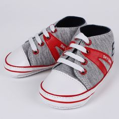 Cartoon Baby Boys Girls Canvas Toddler Sneaker Anti-slip First Walkers Shoes 0-18 Months Red Crab