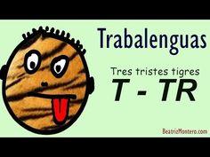 Trabalenguas 08 - Tres tristes tigres - Pronunciación de TR - Con subtítulos - YouTube Ap Spanish, Spanish Language, Culture, Teaching, Films, Fictional Characters, Youtube, Learn Spanish, Speech Language Therapy