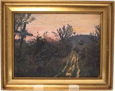 ANTIQUE OIL ON BOARD DANISH PAINTING BY POUL JERNDORFF-HANDMADE WOODEN FRAME-FREE POSTAGE WORLDWIDE