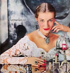 REVLON | Red Lipstick and Nail Polish | #vintage #beauty #advertising