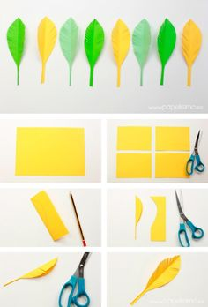 Paper Flowers Diy, Diy Paper, Paper Art, Decor Crafts, Diy And Crafts, Arts And Crafts, Preschool Crafts, Easter Crafts, Paper Feathers