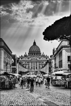 Street to the Vatican, walked this so much this summer :) Rome, Italy