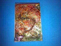 Mi Rincón de Manualidades: LIBRETA MJ Libreta decorada con trozos de papel de...