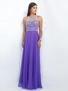 A-Linie/Princess-Stil U-Ausschnitt Ärmellos Kristall Sweep/Pinsel Zug Chiffon Kleider