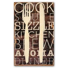 Kitchen Wall Decor ~ This would look great in my kitchen! :)
