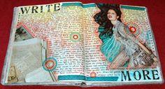 Journal spread (by Caatje's Artsy Stuff)