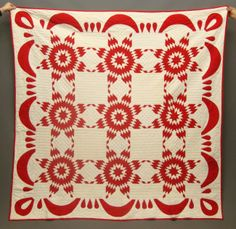 "This is a 19th century quilt with a touching stars design. It measures 80"" square"