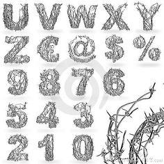 gothic wire illustration alphabet - Google Search