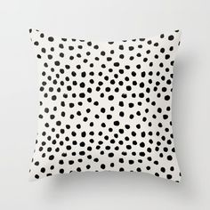 "Preppy brushstroke throw pillow, $20, [society6](https://society6.com/product/preppy-brushstroke-free-polka-dots-black-and-white-spots-dots-dalmation-animal-spots-design-minimal_pillow#25=193&18=126|target=""_blank"")."