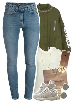 """""""im having a obsession with dull and """"earthy"""" colors """" by daisym0nste ❤ liked on Polyvore featuring Ann-Sofie Back, Louis Vuitton, adidas Originals, Yves Saint Laurent, American Apparel, Forever 21 and Ray-Ban"""