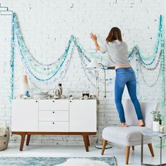 DIY Winter Garland | @westelm + @designlovefest
