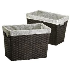 Threshold™ Set of 2 Paper Rope Magazine Basket -... : Target Mobile