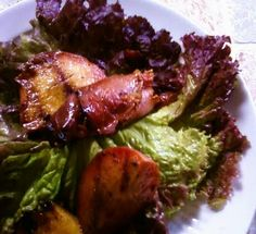 Grilled Nectarines with Prosciutto and Balsamic Fig Vinaigrette