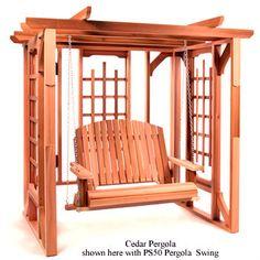 Western Red Cedar Pergola Swing Set Deck and Patio Outdoor Furniture Wood | eBay
