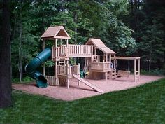 The Board Walk - Kids Korner Playsets Kids Backyard Playground, Backyard For Kids, Backyard Ideas, Playground Ideas, Outdoor Fun For Kids, Outdoor Play Areas, Playhouse Outdoor, Playhouse Plans, Backyard Makeover