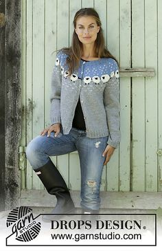 Cardigan / DROPS - Free knitting patterns by DROPS Design Knitted jacket with round yoke in DROPS Lima. The piece is worked top down with a Nordic pattern with sheep. Baby Knitting Patterns, Knitting Blogs, Knitting Charts, Knitting For Beginners, Knitting Designs, Free Knitting, Crochet Patterns, Knit Cardigan Pattern, Vest Pattern
