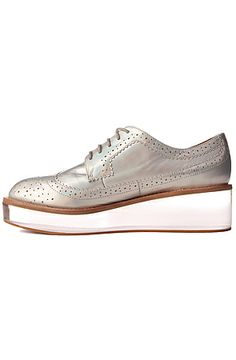 The Adel Shoe in Silver Hologram and Lucite (Exclusive)