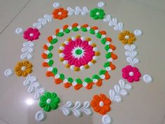 Very clean and beautiful diwali special rangoli design by DEEPIKA PANT - YouTube