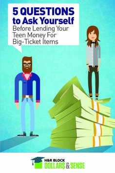 Should you really lend your teen that big chunk of money for a new smartphone? Here are 5 questions to ask yourself before lending your teen money.