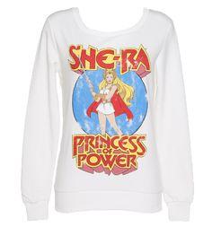 Ladies White She-Ra Princess of Power Sweater