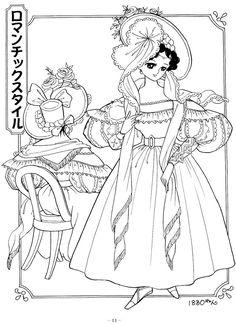 photo princess world 15jpg shojo princess coloring page coloringpage