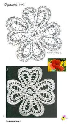 48 Ideas for crochet lace flower pattern ganchillo Crochet Brooch, Crochet Diy, Freeform Crochet, Crochet Chart, Thread Crochet, Crochet Motif, Crochet Flowers, Doilies Crochet, Crochet Circles