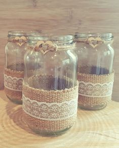 10 wedding jars glass centrepiece vase tealight rustic lace hessian country NEW | Home, Furniture & DIY, Wedding Supplies, Centerpieces & Table Decor | eBay!