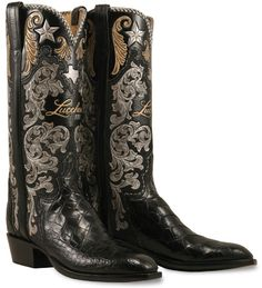 Lucchese Boot Company Limited Edition 125th Anniversary Custom Hand Made American Alligator Cowboy Boots LE125 - Lucchese Classics Mens American Alligator Boots - Boot Town USA