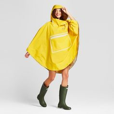 009e44d050c  30 Hunter for Target Adult Waterproof Packable Poncho - Yellow   Target  Blue Raincoat