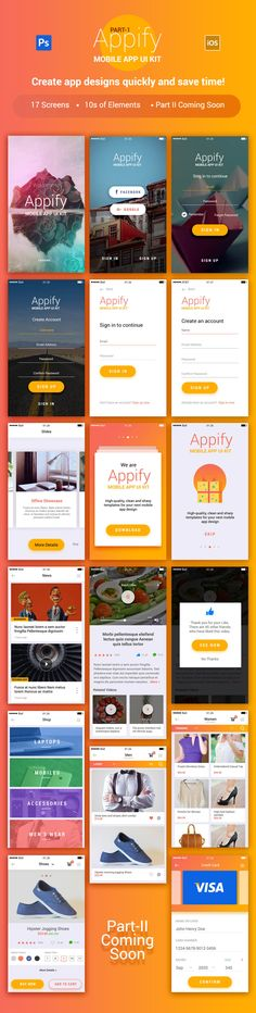Appify: Free #Mobile #App #UI #Kit