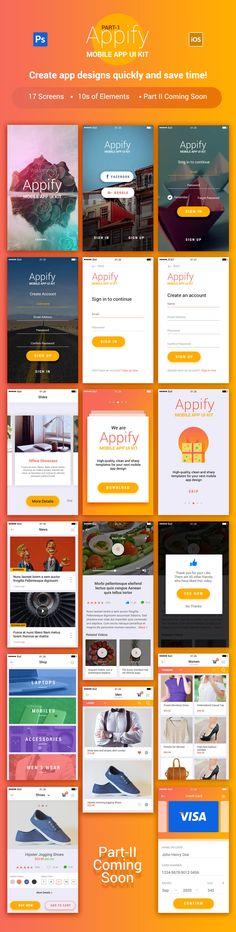 Комплект Appify мобильных приложений пользовательского интерфейса