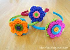.I don't wear plastic headbands, but this is still an interesting Design Idea.     Fiber Flux: Free Crochet Patterns