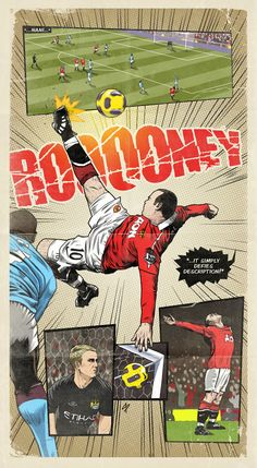 Maravilla d e imagen - Rooney One Love Manchester United, Manchester United Wallpaper, Manchester United Legends, Manchester United Football, Football Player Drawing, Premier League, Bicycle Kick, Football Pictures, Football Images