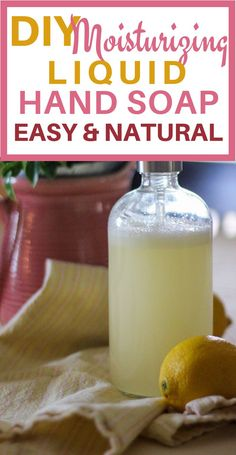 Click now to get the recipe for this DIY liquid hand soap that's easy and moisturizing. Made with essential oils, castile soap, and other oils for added moisture. A super easy recipe for a moisturizing, DIY, liquid hand soap with all natural ingredients. Liquid Castile Soap, Liquid Hand Soap, Uses For Castile Soap, Castile Soap Recipes, Homemade Hand Soap, Limpieza Natural, Essential Oils Soap, Pure Essential, Diy Upcycling