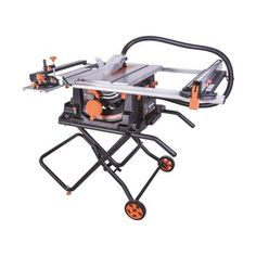 The 15 Amp is an incredibly versatile, multi-material table saw that easily cuts steel, aluminum, wood, wood with embedded nails and plastic using a single blade. This quality saw features a powerful Best Portable Table Saw, Best Table Saw, Table Saw Stand, Diy Table Saw, A Table, Scie Diy, Jobsite Table Saw, Table Saw Accessories, Jigsaw Table