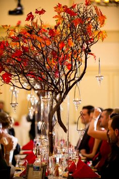 wedding centerpiece autumn branches | Fall center Pieces weddings
